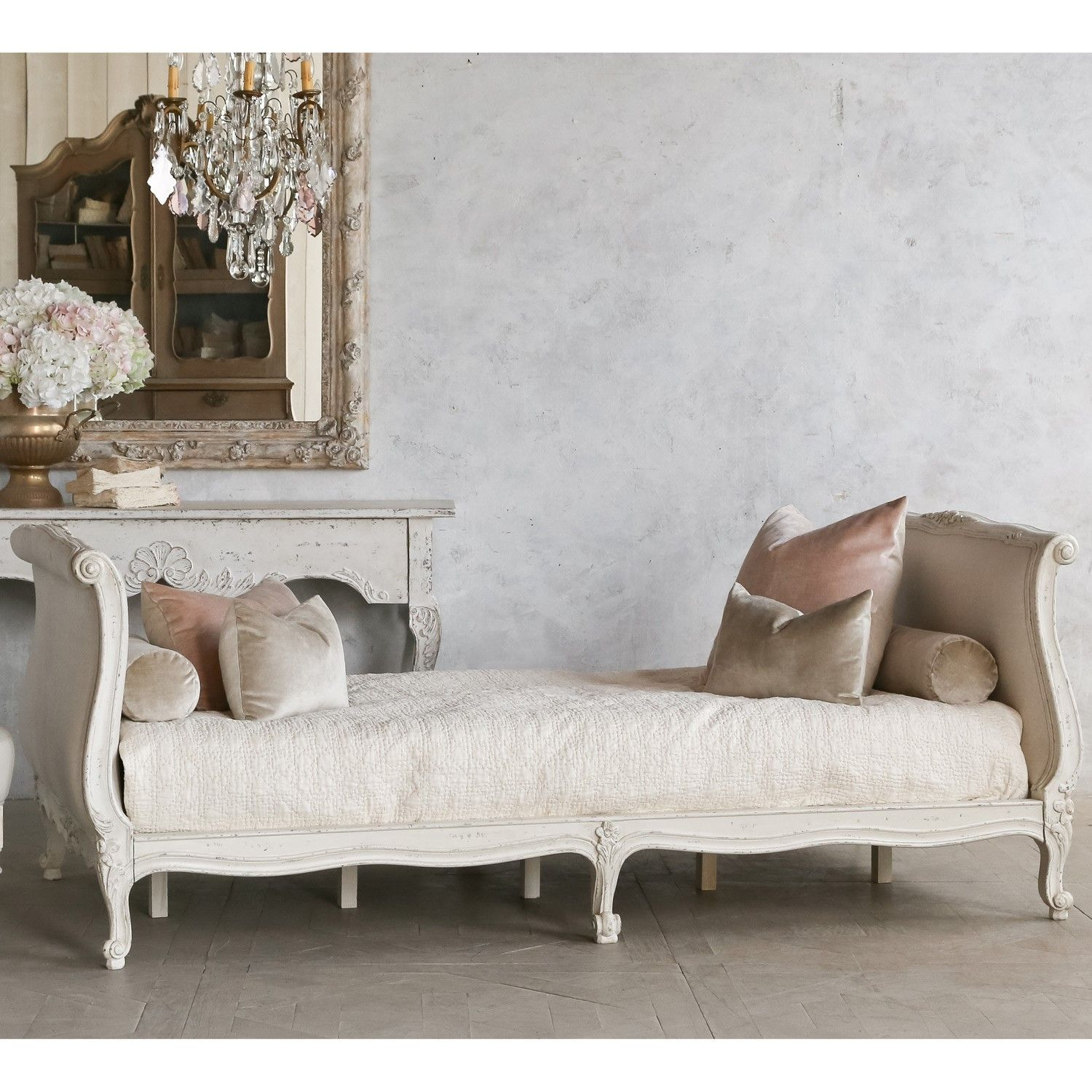 Scandinavian Folk Obsession Scandinavian Box Beds: Twin Clignancourt Daybed In Swedish Antique White
