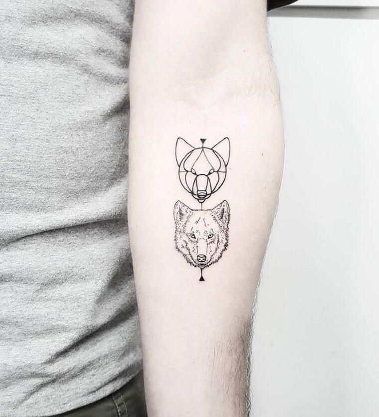 50 Wolf Tattoo Ideas Because If You Live Among Wolves You Have To Act Like A Wolf Small Wolf Tattoo Wolf Tattoos For Women Pattern Tattoo
