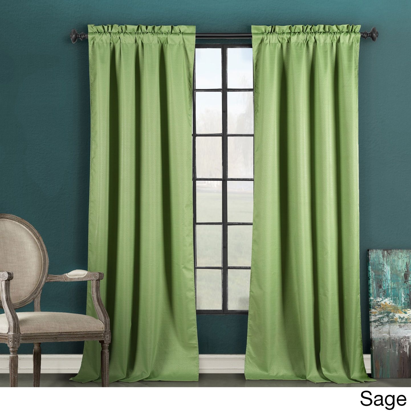Duck River Thermal Insulated Blackout Curtain Panel (63 Black), Size 84  Inches (Polyester, Solid)