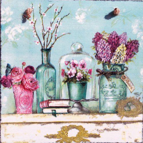 Unico-Shabby-Chic-imagen-placas-Decoupage-Vintage-Retro-Rustico-Rose