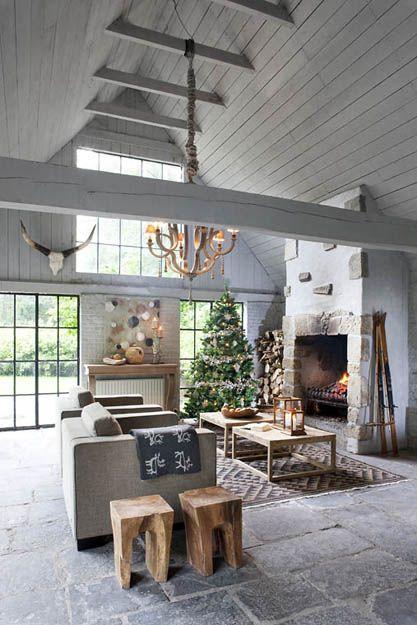 esprit cabane cabin atmosphere flamant home interiors living