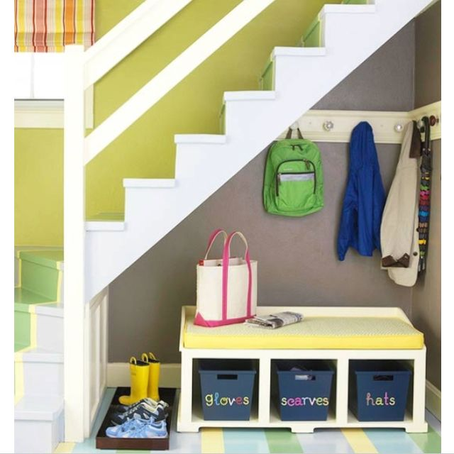 Under Stairs Storage Ideas For Coats