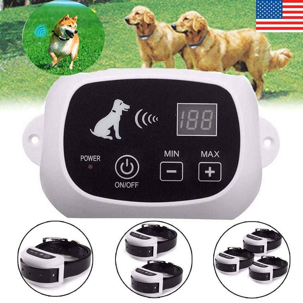 Amerstar Waterproof Wireless Electric Dog Pet Fence Containment System Transmitter Collar 2 Dog Click Image To R Pet Containment Systems Dog Fence Pet Fence