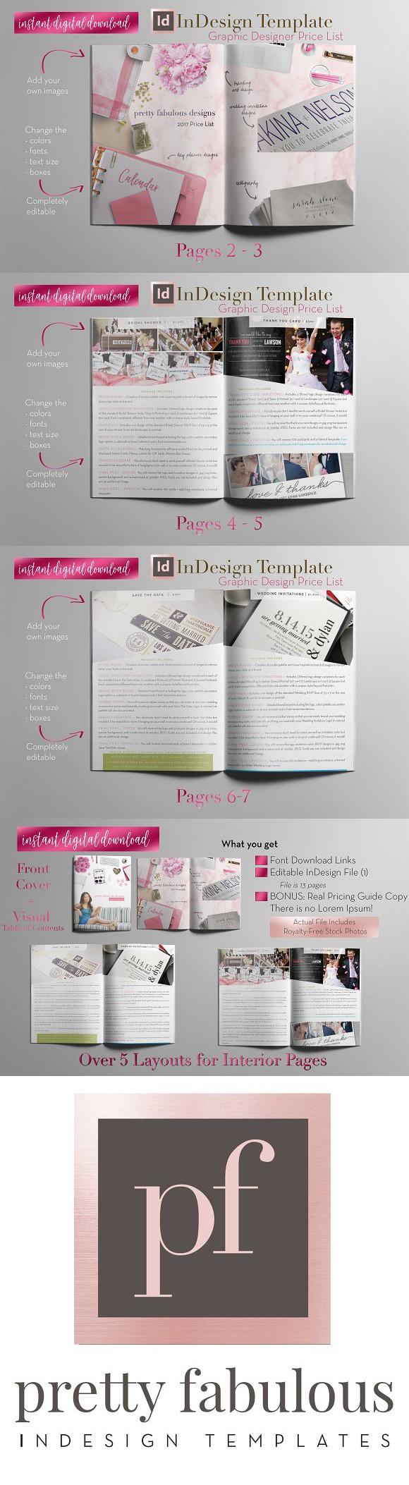 Price List A   InDesign Template. Brochure Templates   Brochure ...