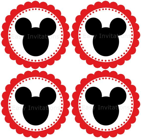 Cupcake Toppers Mickey Mouse Birthday Fiesta Mickey Mouse