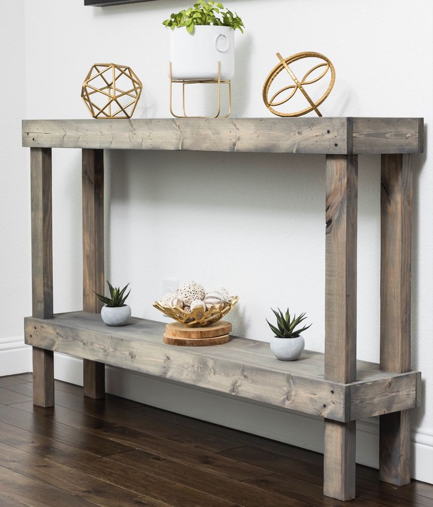 Home Rustic Console Tables Rustic Consoles Wood Console Table