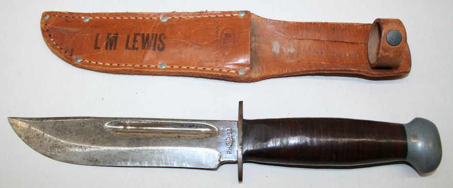 Vintage PAL RH 36 Military Fighting Knife and Sheath WWII