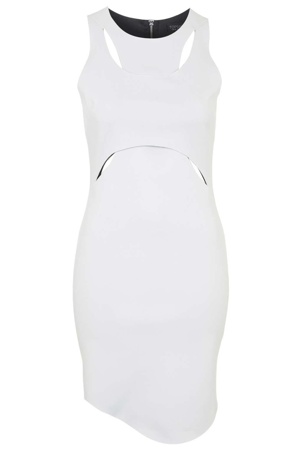 Cut-Out Crop Top Bodycon Dress
