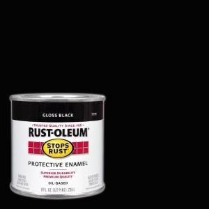 Rust Oleum Stops Rust 8 Oz Protective Enamel Gloss Black Paint 7779730 The Home Depot Exterior Paint Charcoal Interior Rustoleum