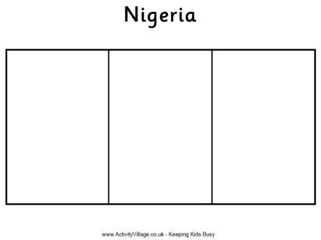 Nigeria Flag Colouring Page