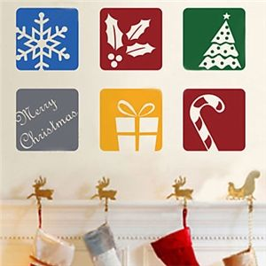 Wall Stickers - Christmas Decoration Wall Stickers