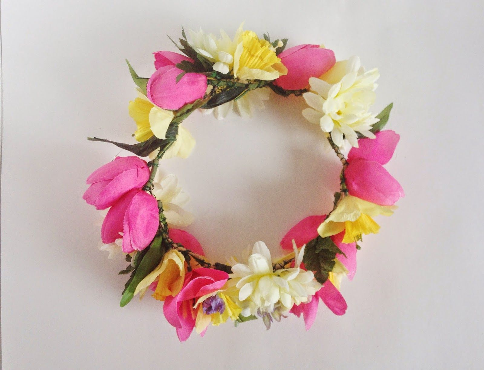 Hi friends ive been seeing diy flower crowns all over pinterest emily faith how to make fake flower crowns izmirmasajfo Choice Image