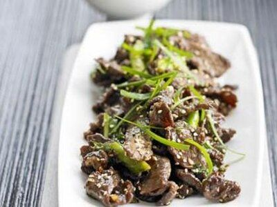 Sizzling Korean-Style Beef with Sesame Seeds | Recipe in ...