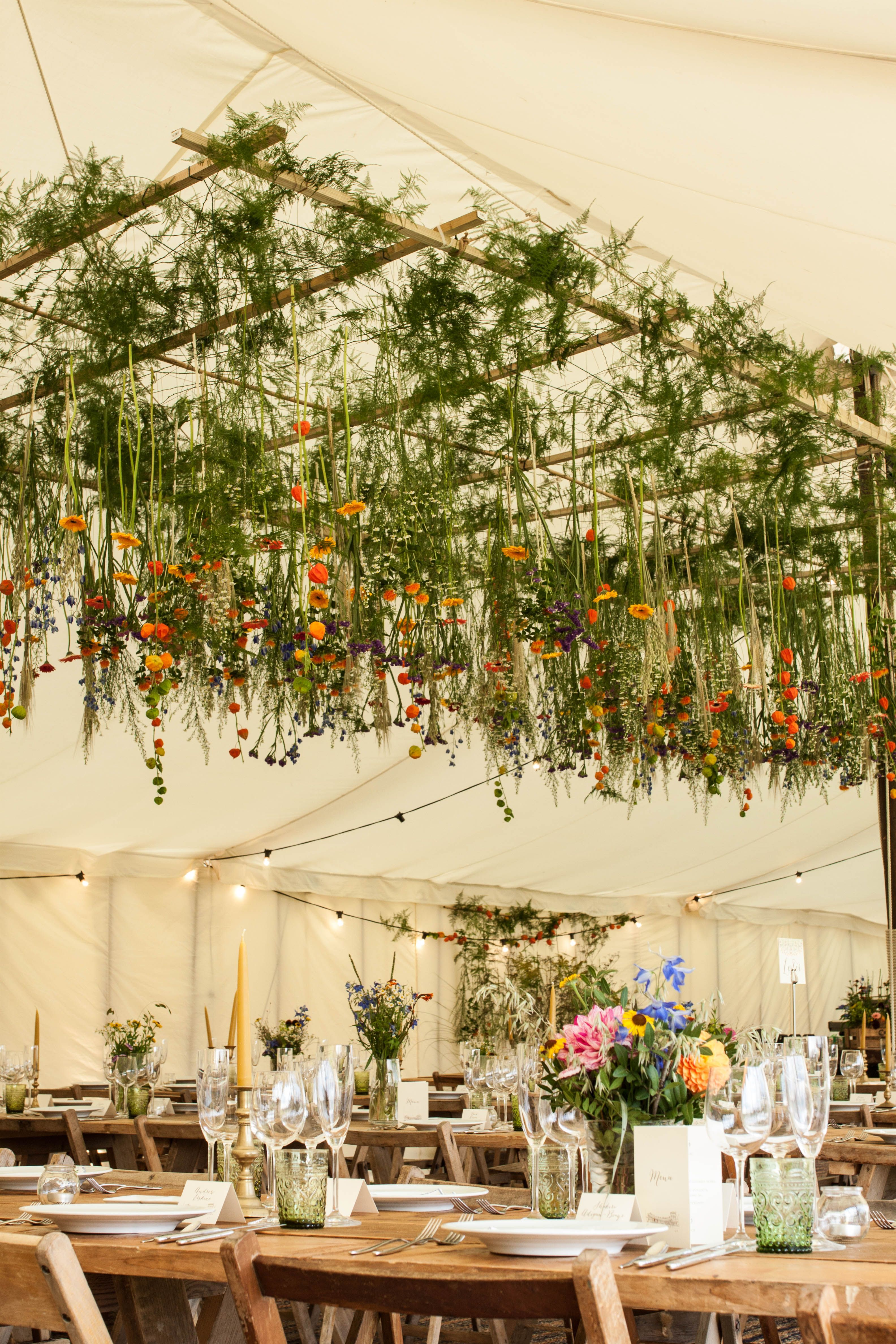 Hanging floral display within our Traditional Tent by Mathew Oliver //. & Hanging floral display within our Traditional Tent by Mathew ...