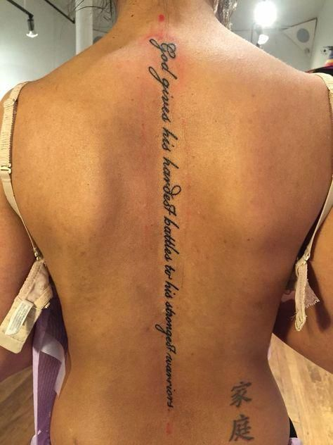 © 2018 - turkrazzi A comprehensive picture guide on the best and simple back tattoos for females which are beautiful and dainty. ... #Tattoosonback