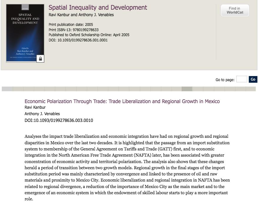 Economic Polarization Through Trade Trade Liberalization