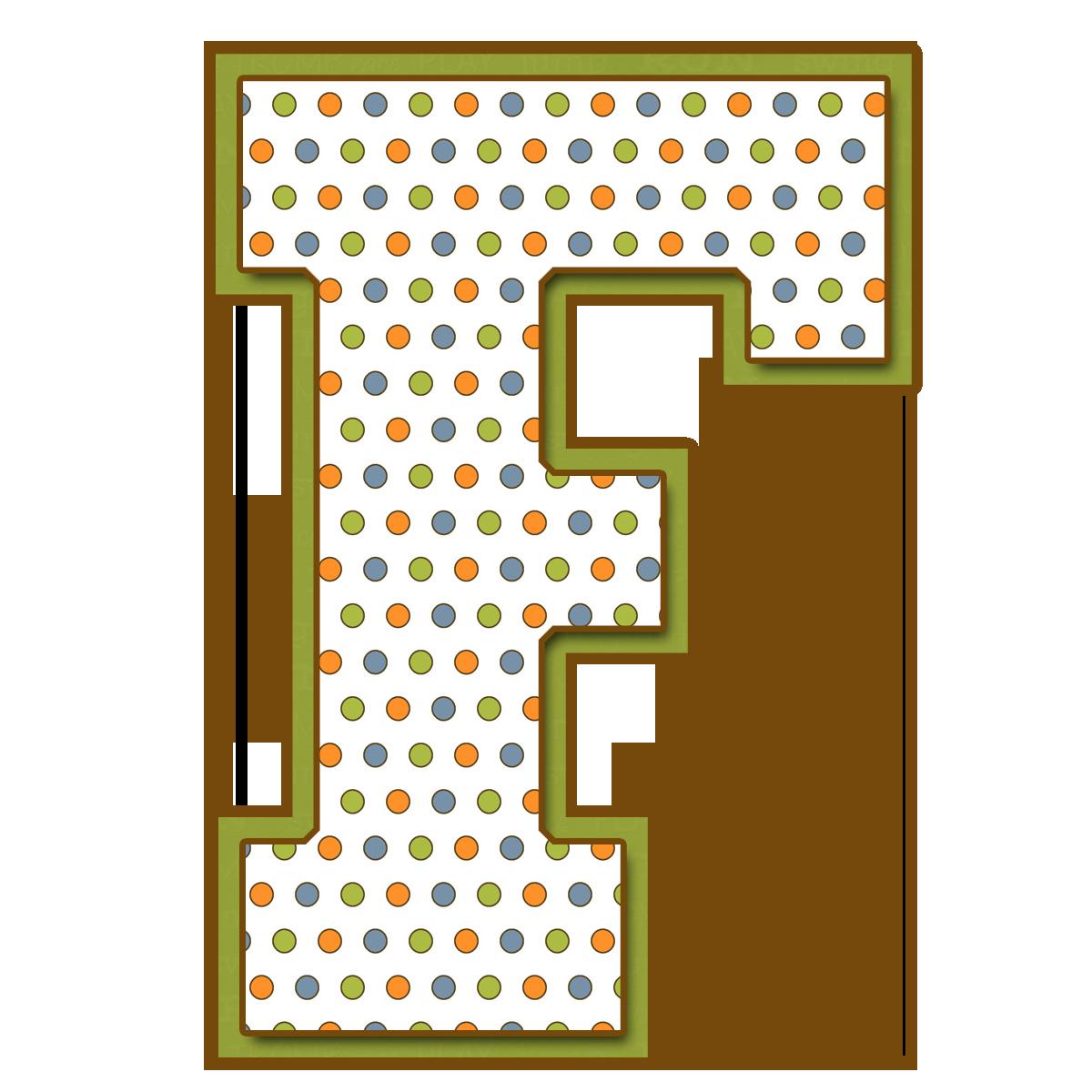 Letras Mayúsculas para imprimir de bolitas de colores. Letra F. | F ...