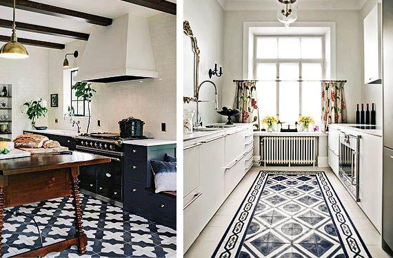 mosaico hidrulico para decorar los suelos de tu cocina