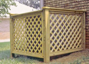 Wood Lattice Surround Air Conditioner Screen Pool Equipment Cover Lattice