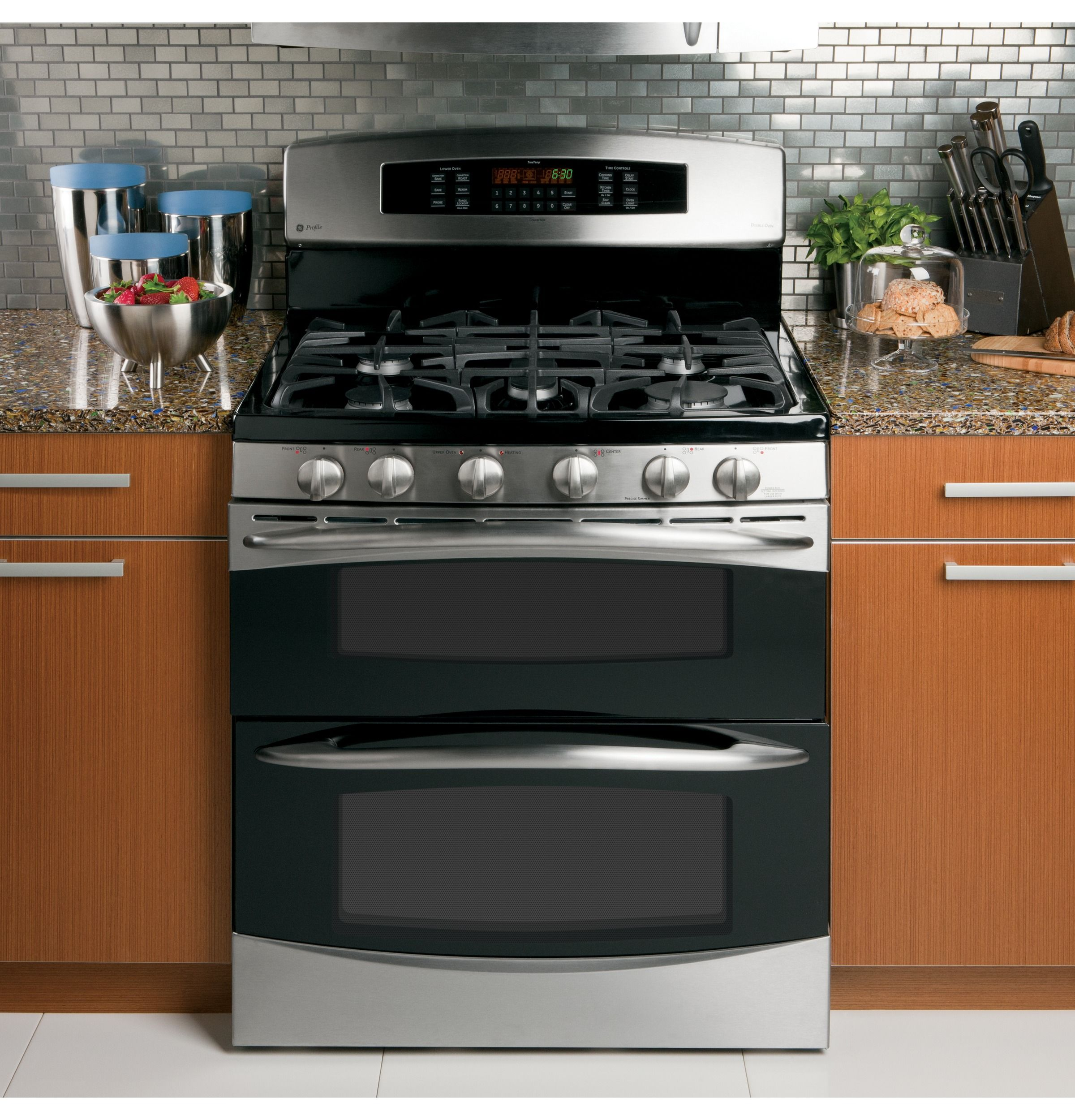 Pgb995setss Ge Profile 30 Free Standing Gas Double Oven With