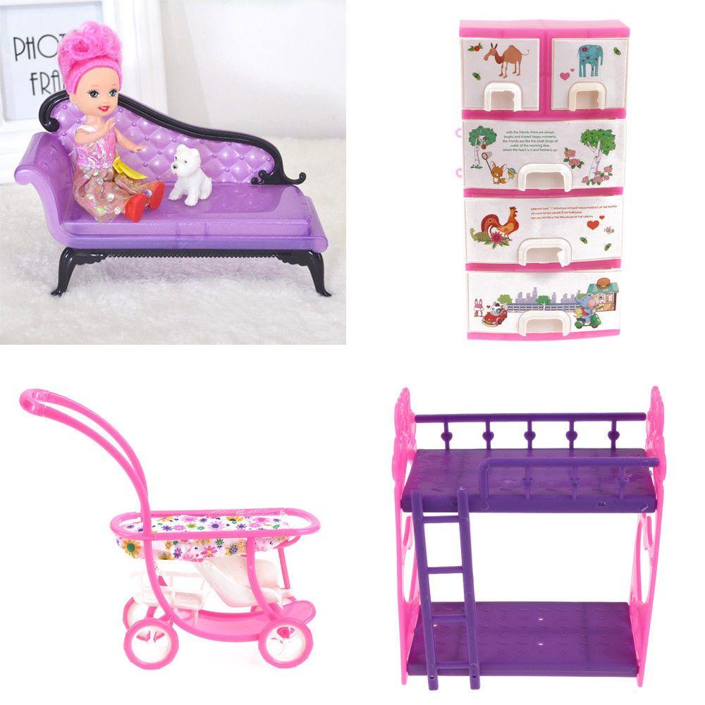 1 54 Aud 1 6 Scale Dollhouse Furniture Mini Sofa Bunk Bed