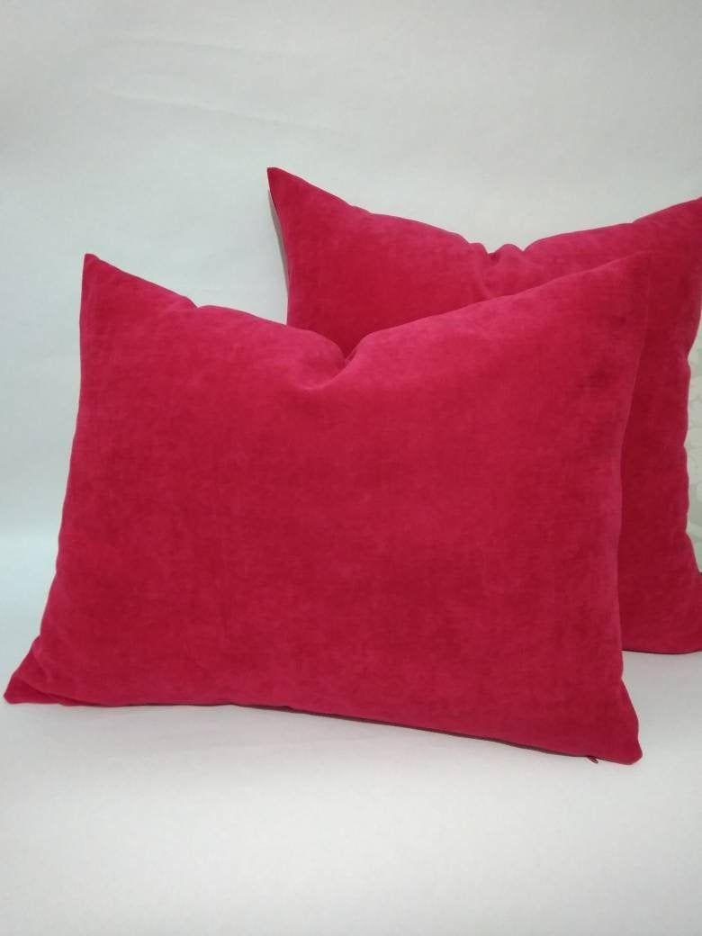 Fuchsia Velvet Pillow Covers In Custom Fuchsia Velvet Cushion