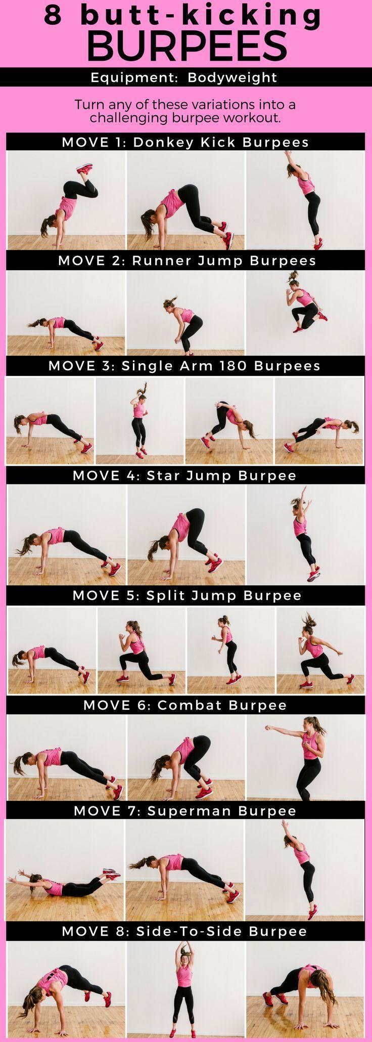 8 Butt-Kicking Burpees + 16 Minute EMOM Workout   burpees I burpees workout I burpee exercises I at home workout I total body workout II Nourish Move Love I #burpees I #athomeworkout I #fitmom