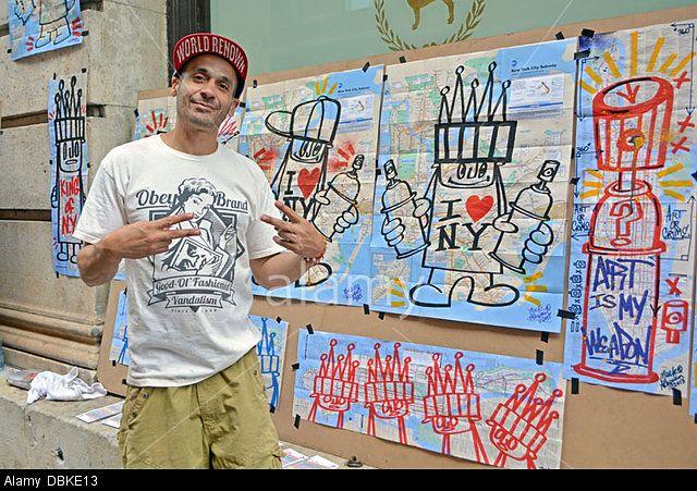 Mark Alequin street artist in N.Y.