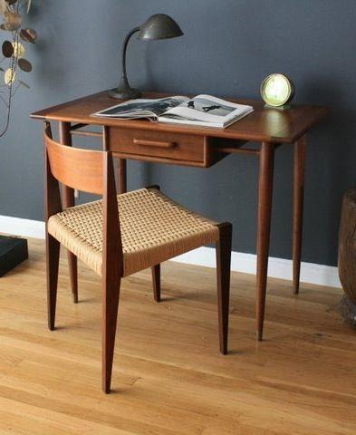 MCM Teak Corner Desk: Also Paint Color For Master Bedroom Home Office Paint  Ideas,