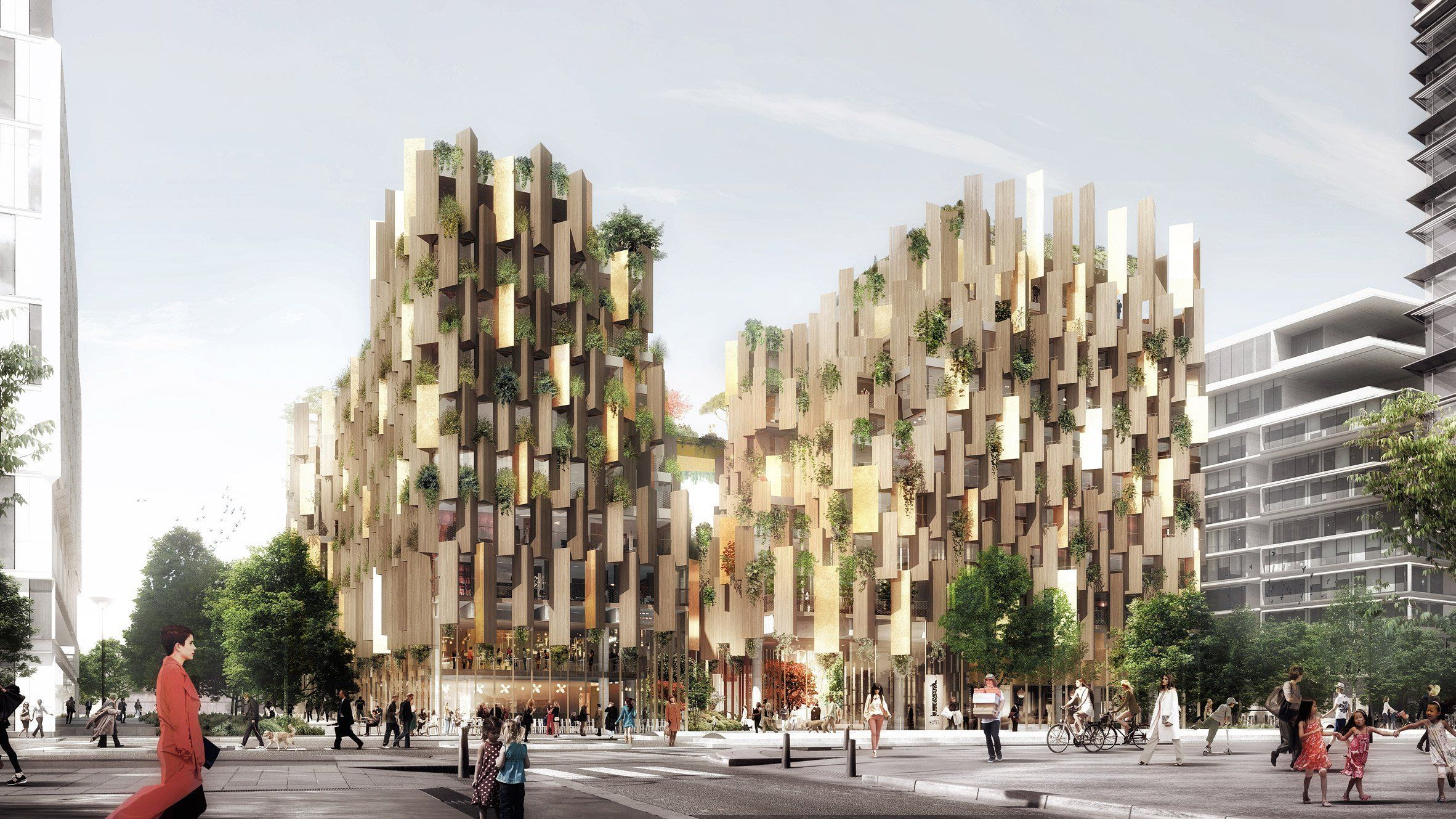 Eco luxury hotel in Paris by Kengo Kuma