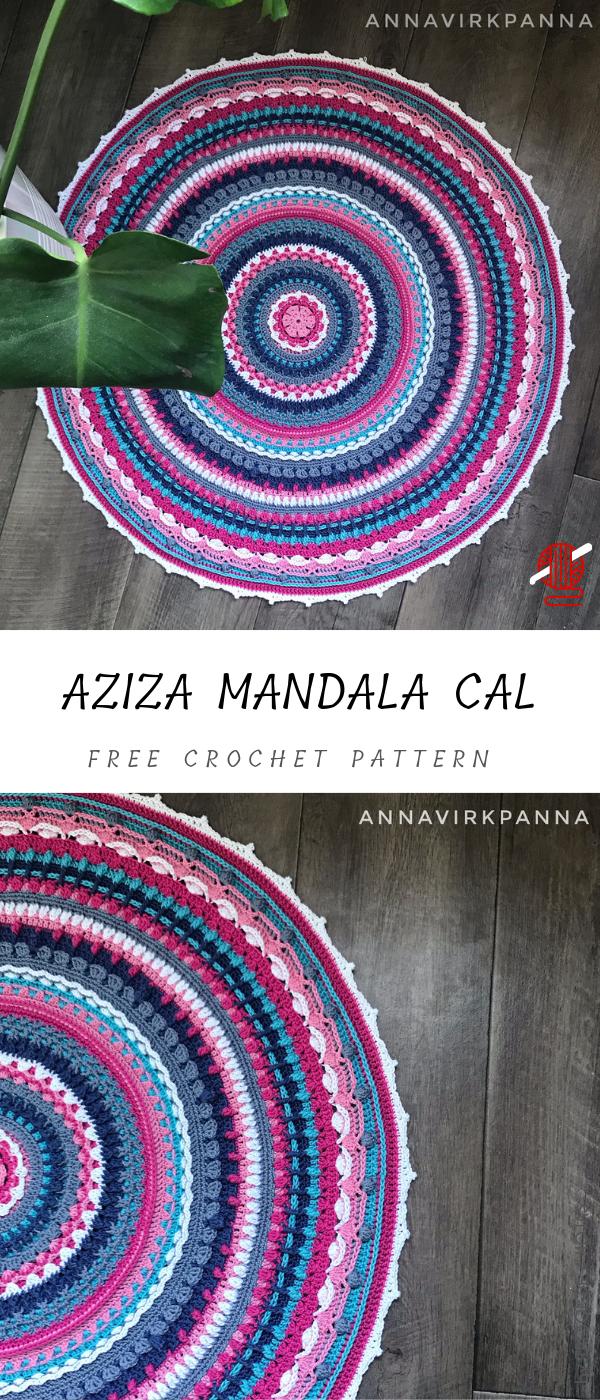 Aziza Crochet Mandala CAL #crochetmandalapattern