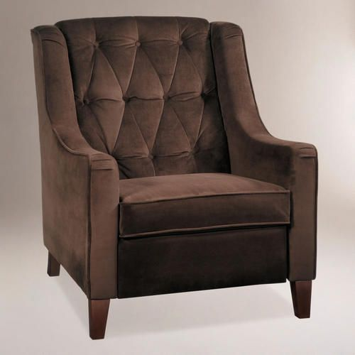 Chocolate Victoria Velvet Tufted High Back Chair 家具