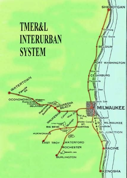 Tmer L Interurban System Map Historical Milwaukee Pictures