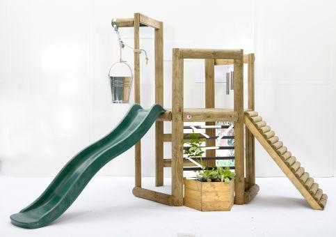 Plum Klettergerüst : Plum discovery holz spielhaus mit vielen spielmöglichkeiten ca