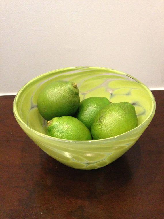 Lime Green Hand N Gl Fruit Bowl By Cherylsabandesigns 70 00
