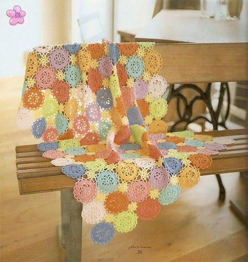 PATRONES GRATIS DE CROCHET: Patrón manta de colores a crochet ...