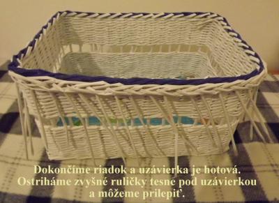 e693c4b54 dvojfarebná uzávierka - postup   PAPIEROVÉ PLETENIE   Laundry basket ...