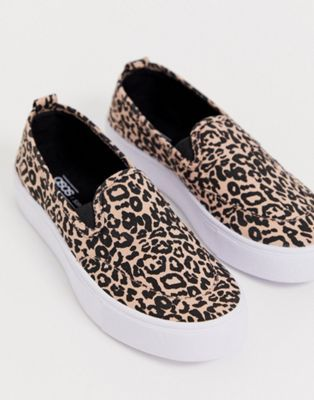 DESIGN Dexter slip on plimsolls in leopard #highsandals