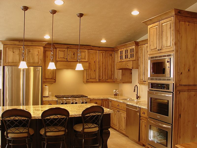 knotty alder cabinets kitchen | LEC Cabinets: Rustic Knotty Alder ...