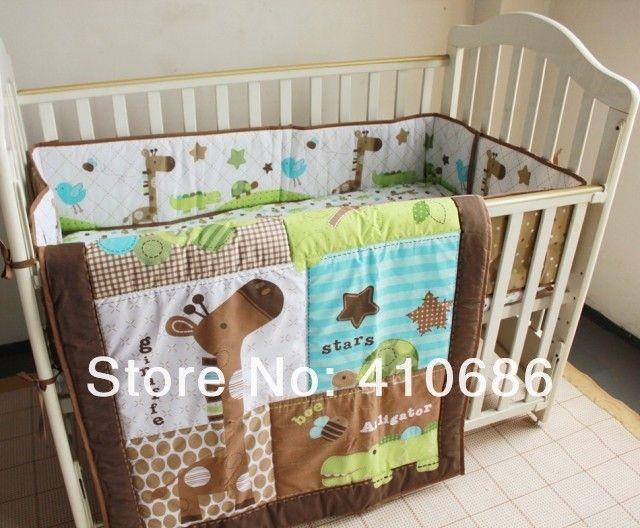 New Giraffe Animals 6pcs Baby Boy Kinderbett Kinderbettwäsche Set 3