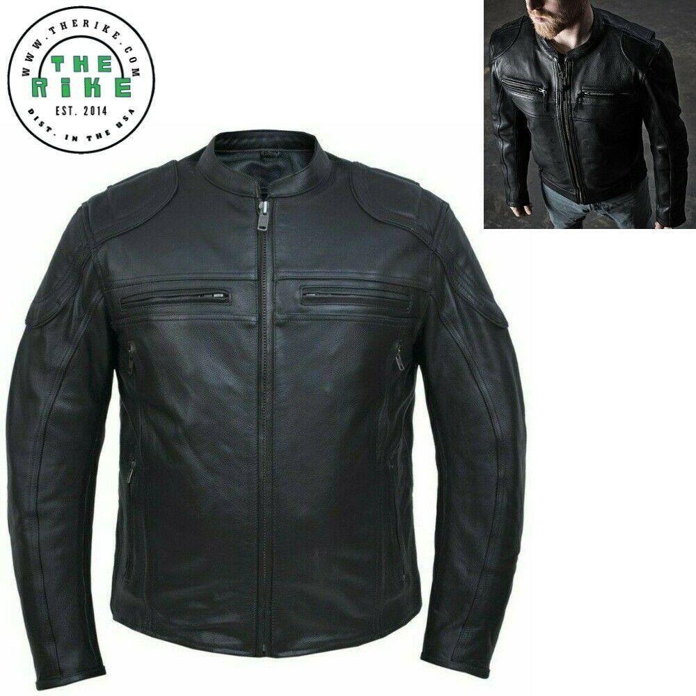 Cowhide Premium Leather Motorcycle Biker Jacket Men S Leather Jacket S 5xl Leather Jacket Biker Jacket Men Designer Leather Jackets [ 1000 x 1000 Pixel ]