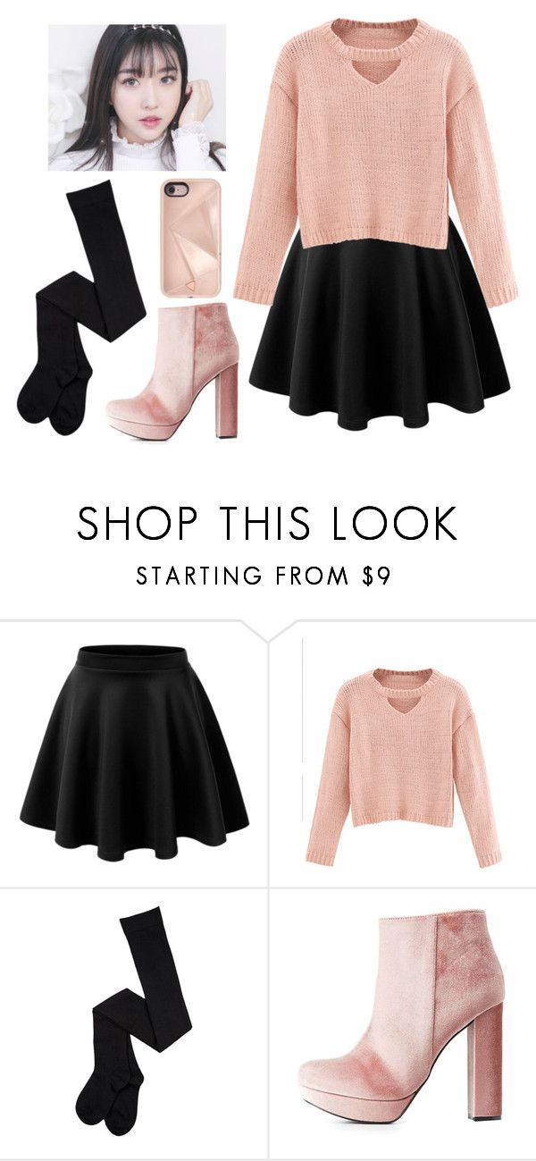 """""""Valentine's day"""" by chap15906248 ❤ liked on Polyvore featuring WithChic, Charlotte Russe and Rebecca Minkoff"""
