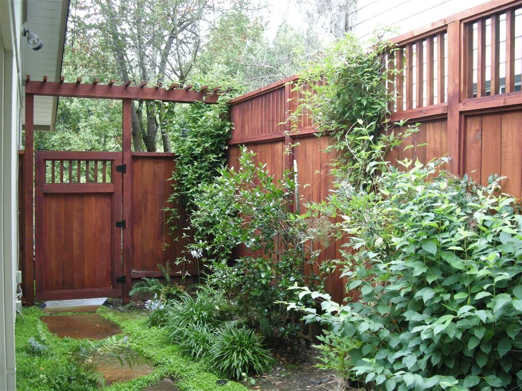 Sideyard Fence And Gate Green Spaces With Fresh Air