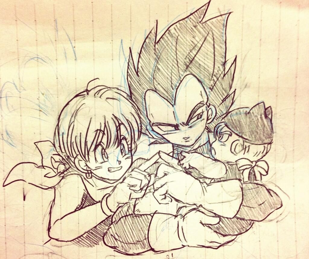 Bulma Vegeta And Trunks This Is So Cute Oh God Visit Now For 3d