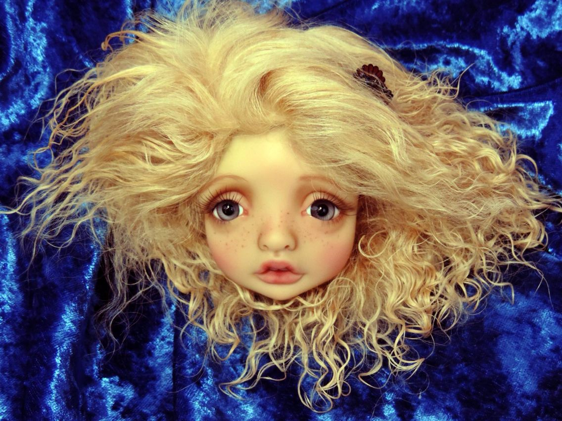 Beautiful Mystery YOSD by Nefer Kane...Faceup by Charlene Smith of Fireflies*and*Blossoms