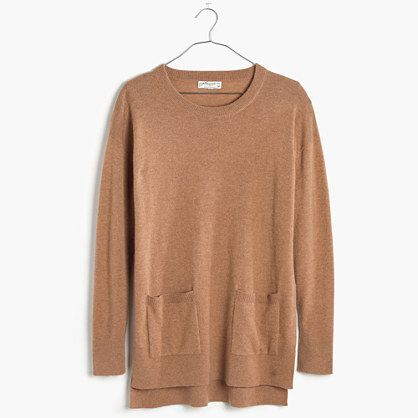 This sweater is 100 percent cashmere, and its long, relaxed fit ...