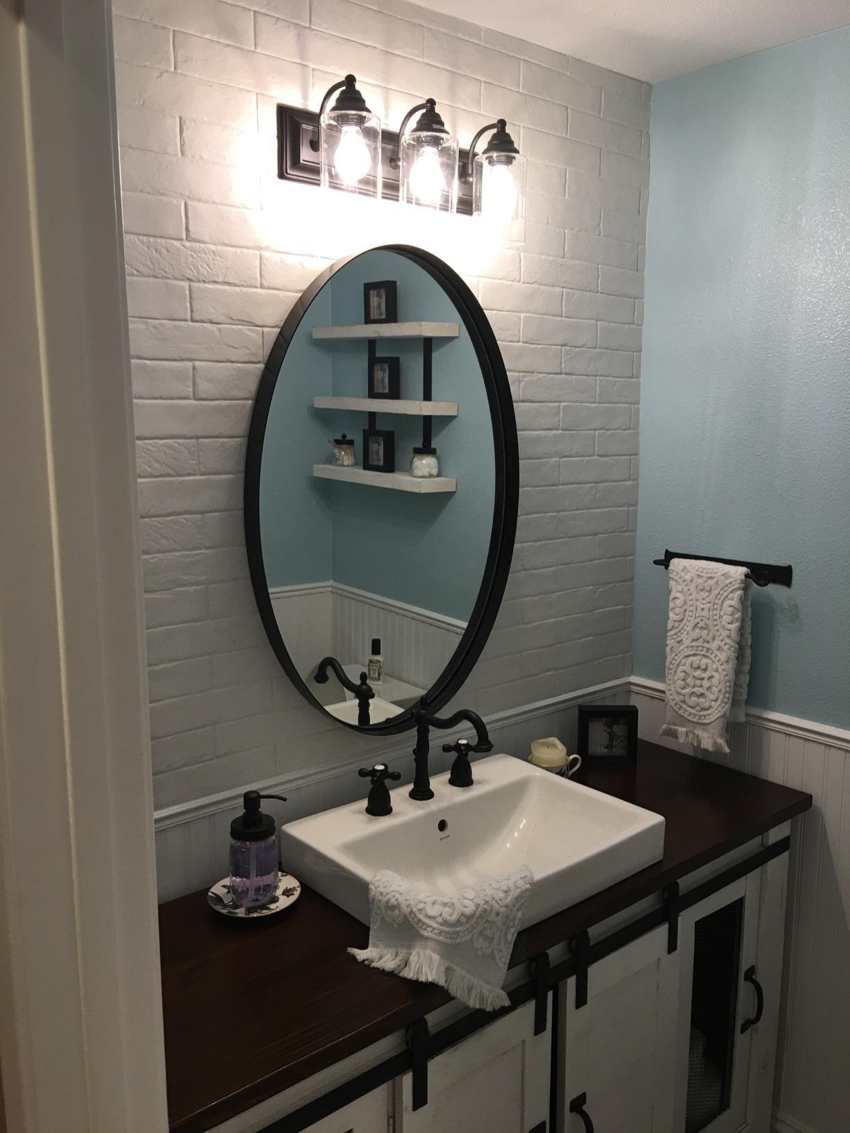 Bathroom Round Vanity Mirror 26 To 36 Diamete Us Stock Round Mirror Bathroom Oval Mirror Bathroom Farmhouse Bathroom Decor [ 1632 x 1224 Pixel ]