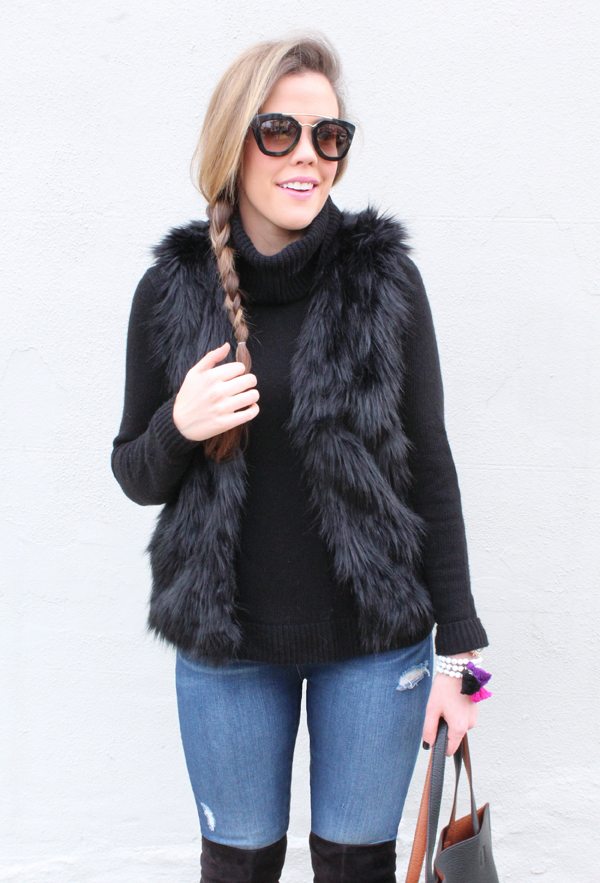 Affordable OTK Boots, Faux Fur Vest, Turtleneck Sweater, and Reversible Tote bit.ly/1HPxES8