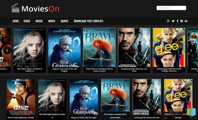 Blogger Movies Template Free Blogger Templates Blogger Templates