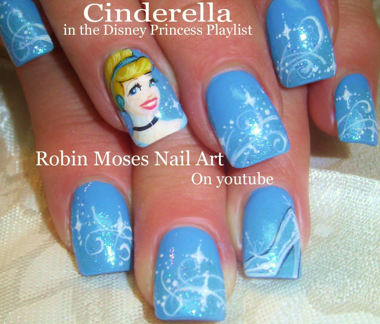 Cinderella Inspired Nail Art: Nail Art Tutorial
